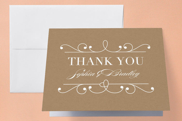 """""""Arabesque"""" - Formal, Classical Thank You Cards in Midnight by Griffinbell Paper Co.."""
