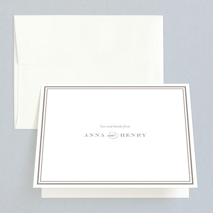 """Field"" - Classical, Simple Folded Thank You Card in Deep Ocean by Toast & Laurel."