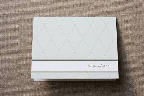 Classic Diamonds Thank You Cards