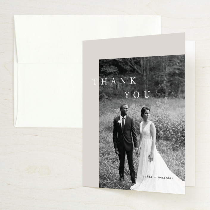 """""""The Minimalist"""" - Folded Thank You Card in Air by lulu and isabelle."""