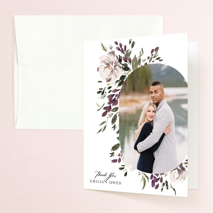 """""""iliya"""" - Folded Thank You Card in Bordeaux by Itsy Belle Studio."""