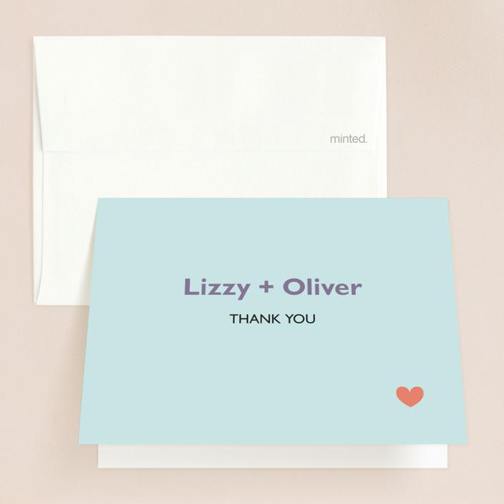 """""""Destination"""" - Thank You Cards in Lilac Haze by leslie hamer."""