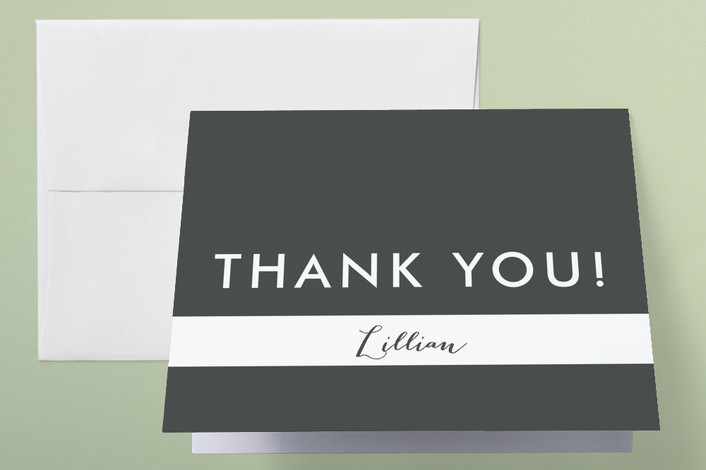 """""""Lattice"""" - Thank You Cards in Charcoal by Marabou Design."""