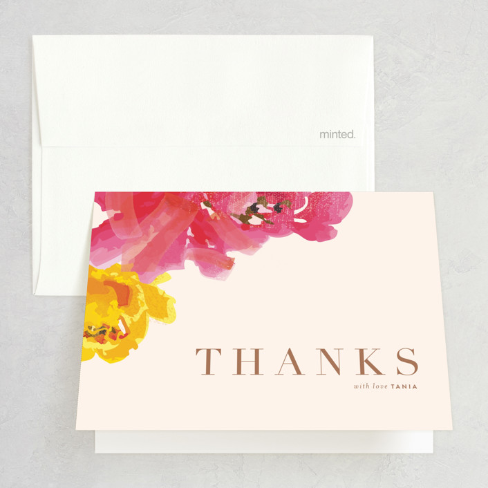 """Guapa"" - Thank You Cards in Floral by kelli hall."