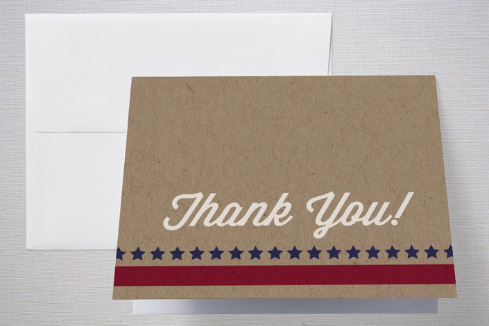 """The Patriot"" - Thank You Cards in Americana by Kimberly Chow."