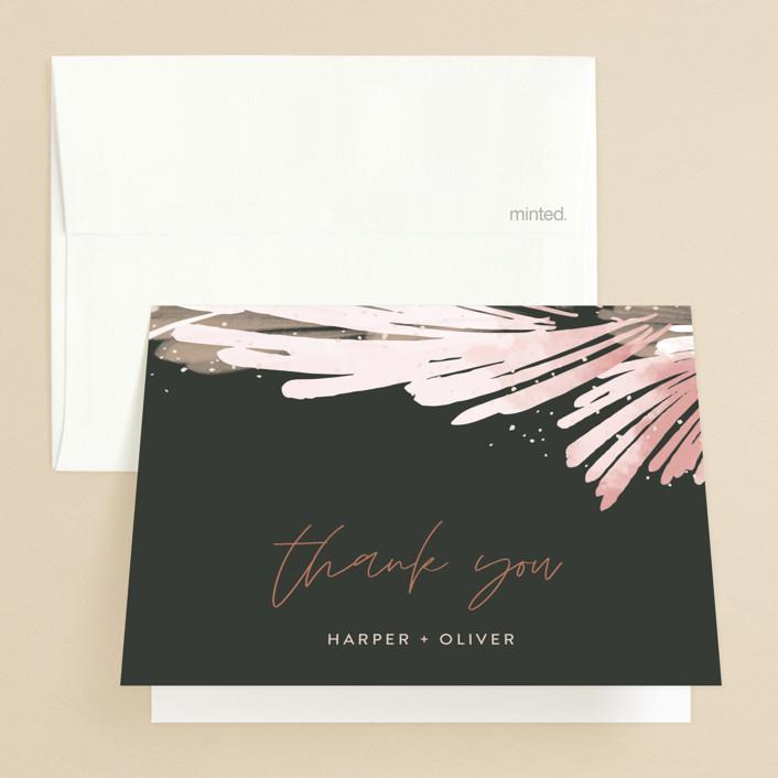 """lush romance"" - Bohemian Folded Thank You Card in Palm by Robin Ott."