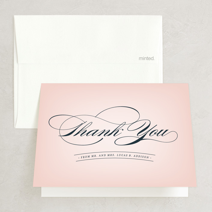 """Big City - San Francisco"" - Thank You Cards in Blush by Hooray Creative."