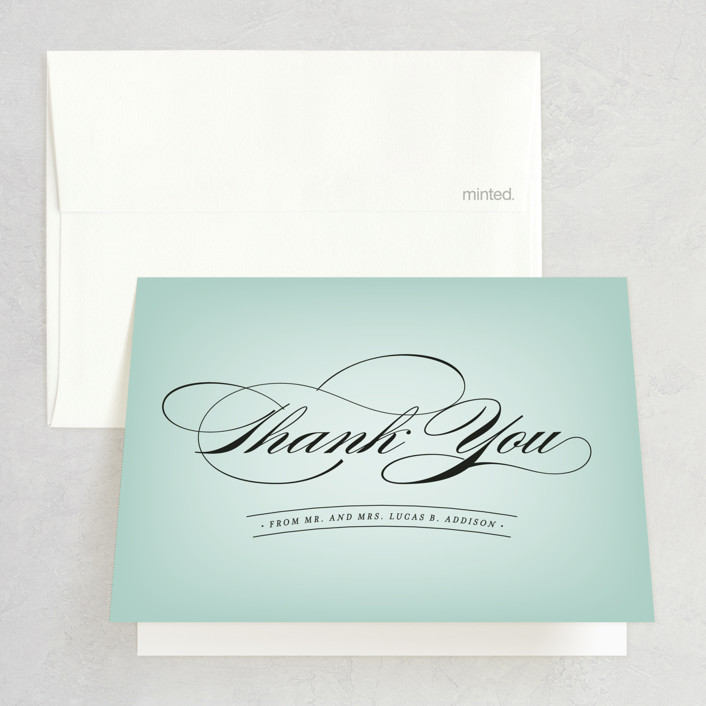"""Big City - Chicago"" - Thank You Cards in Mint Green by Hooray Creative."