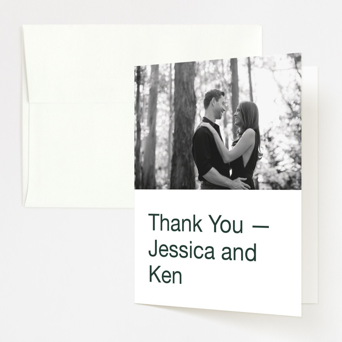 """Proposal"" - Folded Thank You Card in Buff by Jack Knoebber."