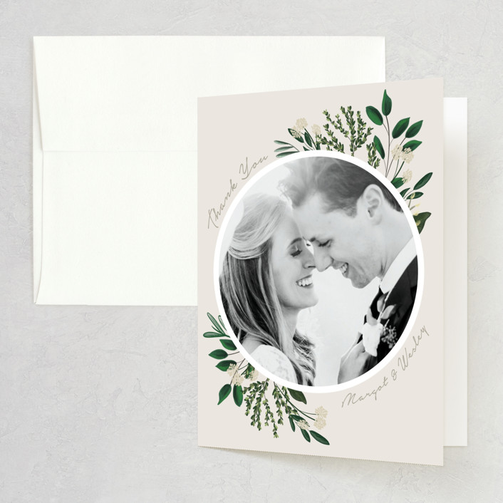 """Watermark"" - Folded Thank You Card in Cypress by Kaydi Bishop."