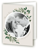 This is a green wedding thank you card by Kaydi Bishop called Watermark with standard printing on strathmore in standard.