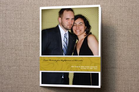Golden Wrap Thank You Cards