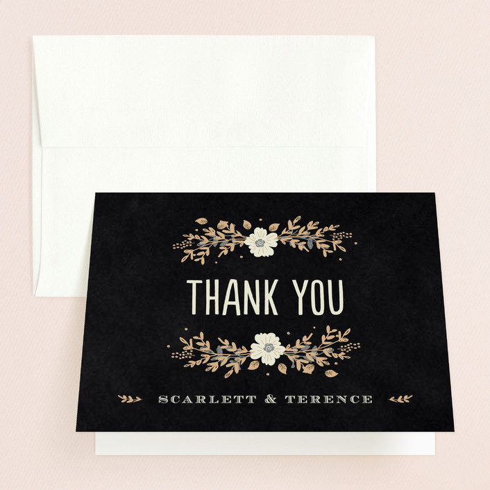 Jardin nocturne thank you cards by bonjour paper minted for Jardin nocturne