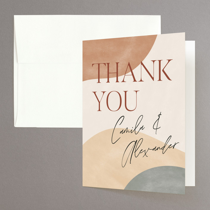 """""""Surface"""" - Modern Folded Thank You Card in West by Pixel and Hank."""