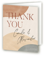 This is a brown wedding thank you card by Pixel and Hank called Surface with standard printing on strathmore in standard.
