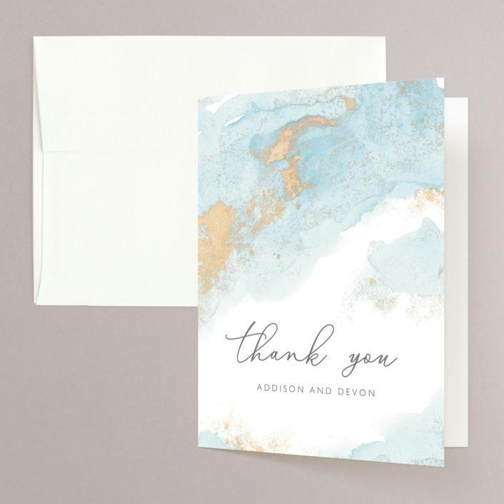"""""""My tenderness"""" - Modern Folded Thank You Card in Topaz by Helen Halik."""