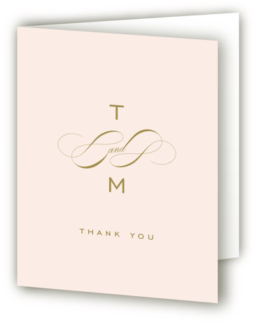 This is a portrait classic and formal, yellow Wedding Thank You Cards by Kimberly FitzSimons called Enamored with Standard printing on Standard Cover in Card fold over (blank inside) format. A bold wedding invitation with an eye catching monogram and ...