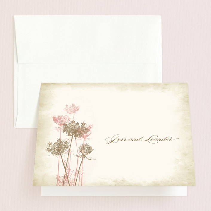 """Rustic Queen Anne"" - Thank You Cards in Vintage Rose by Brynn Rose Designs."