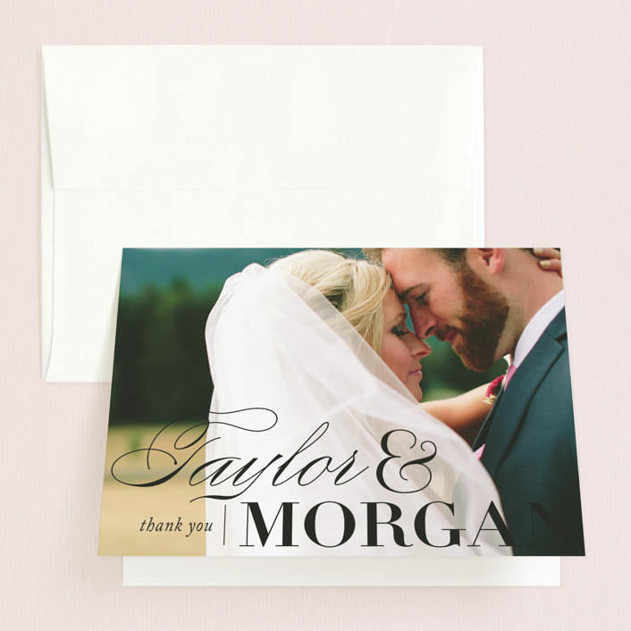 """Darling and Dashing"" - Preppy Thank You Cards in Blush by Alston Wise."