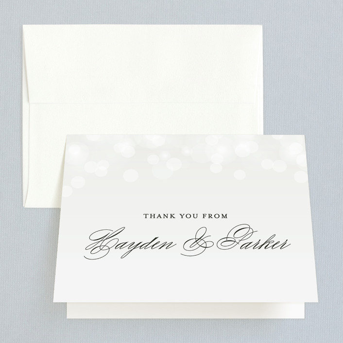 """""""Starry Eyed"""" - Elegant, Classical Thank You Cards in Cloud by Design Lotus."""