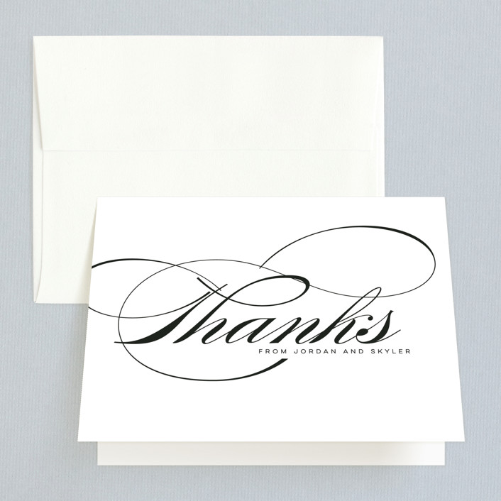 """Waltz"" - Thank You Cards in Tuxedo by Lori Wemple."
