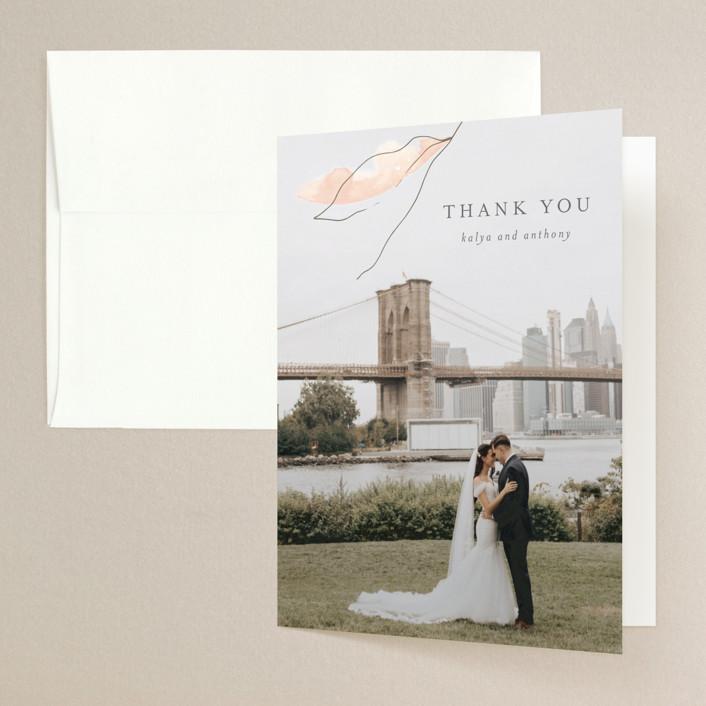 """Autumn Euphoria"" - Folded Thank You Card in Autumn Kiss by Design Lotus."