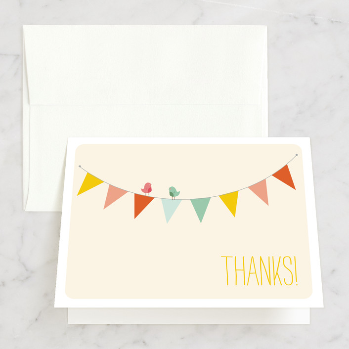 """""""Barn Party!"""" - Thank You Cards in Peach by ZucchiniPress."""