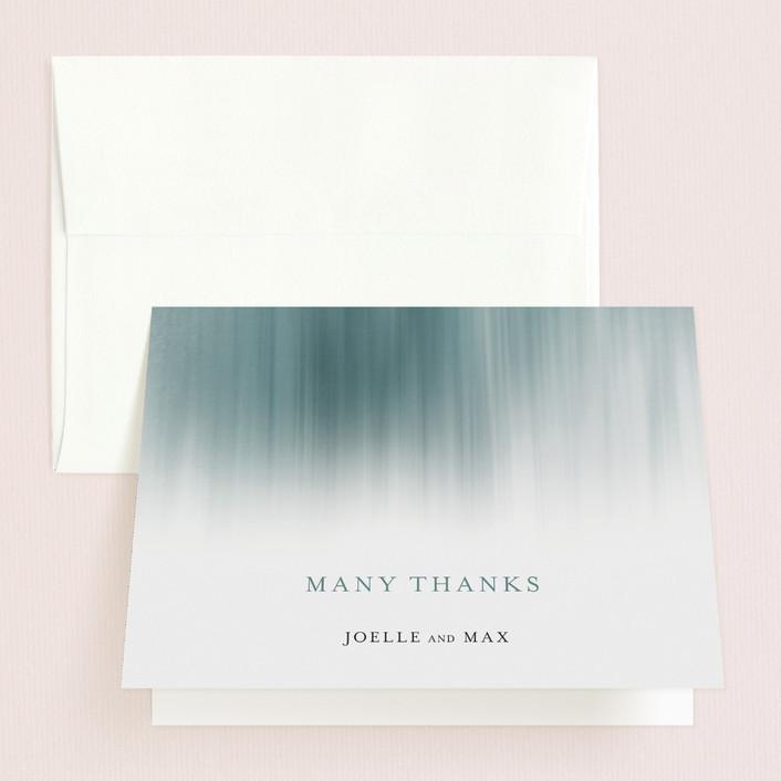 """Modern Beach"" - Modern Thank You Cards in Dark Blue by Sarah Lenger."