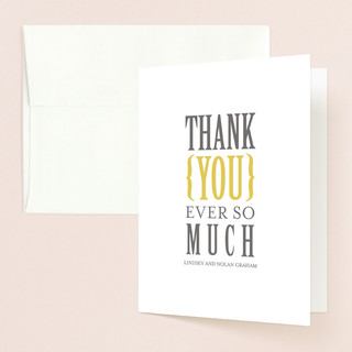Bold Brackets Thank You Cards