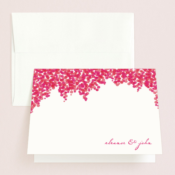 """Bougainvillea"" - Thank You Cards in Bright Fuchsia by Laura Hankins."