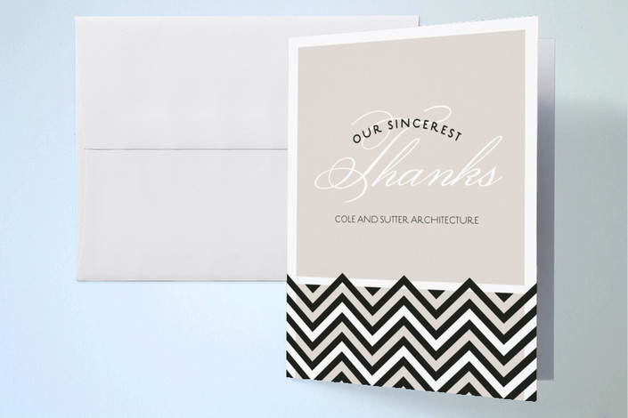 """""""Coco"""" - Thank You Cards in Taupe by Sarah Lenger."""