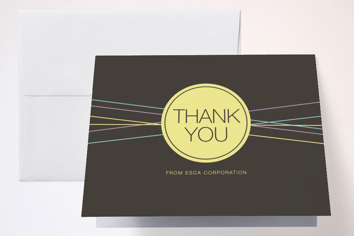 """""""Simply 10"""" - Thank You Cards in Leather by Paperview Designs."""