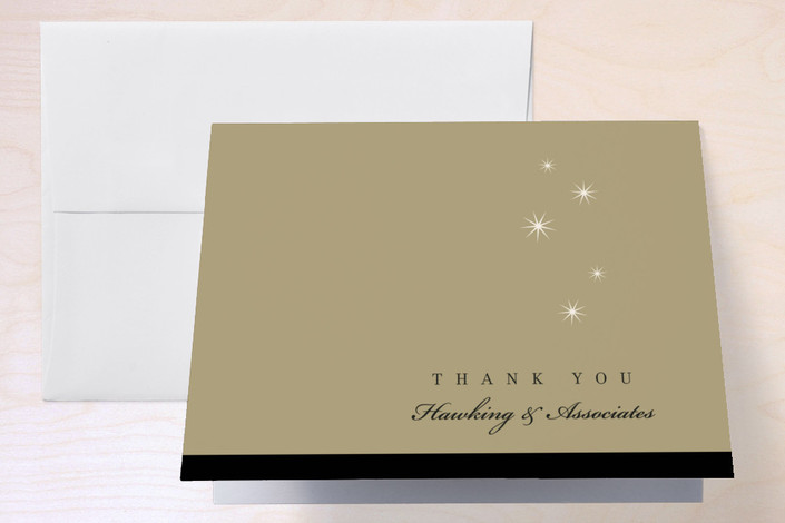 """""""Simply Celebrate"""" - Thank You Cards in Midnight by Amanda Larsen Design."""