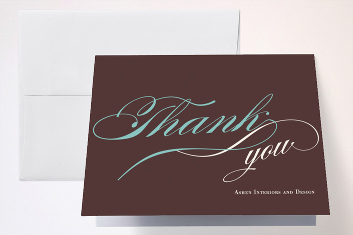 """""""Savvy Celebration"""" - Thank You Cards in Cacao by Jessica Johnson."""