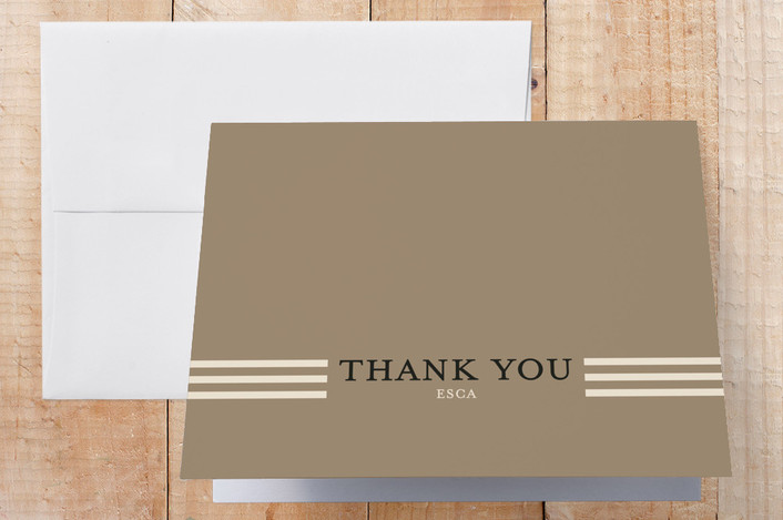 """""""Bright Ideas"""" - Thank You Cards in Espresso by Frooted Design."""