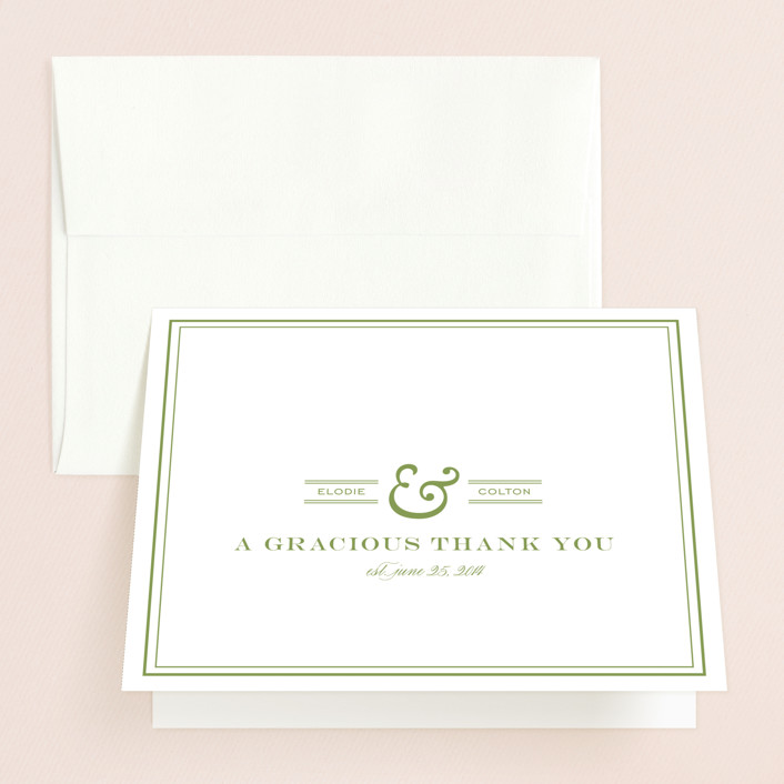 """""""Country Club"""" - Thank You Cards in Spring Green by annie clark."""