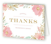 Floral Vignette Thank You Cards