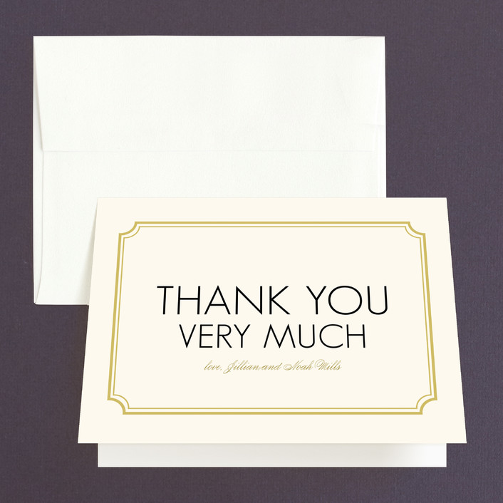 """""""Modern Classic"""" - Modern Thank You Cards in Golden Bear by annie clark."""