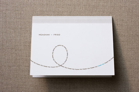 Modern Loop Thank You Cards
