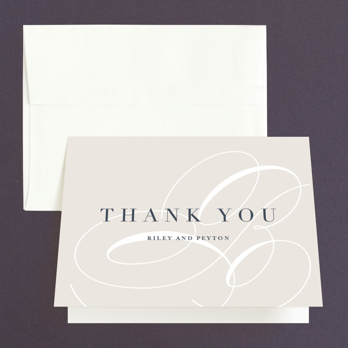 """""""Fresh Monogram"""" - Modern Thank You Cards in Latte by Lauren Chism."""
