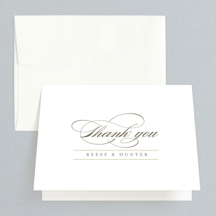 """Valencay"" - Preppy Folded Thank You Card in Silk by chocomocacino."