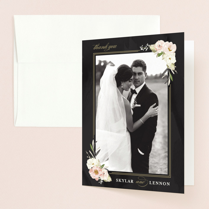 """Forever"" - Thank You Cards in Blush by Susan Moyal."