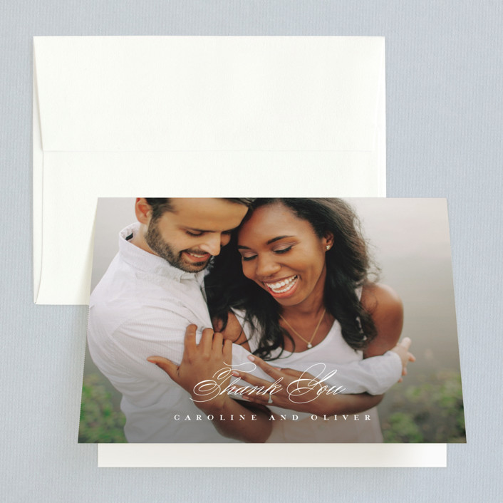 """At Last"" - Thank You Cards in Onyx by Lauren Chism."