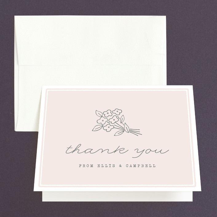 """""""Simply Yours"""" - Thank You Cards in Peony by Sara Hicks Malone."""
