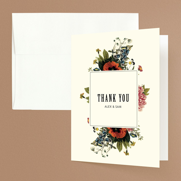 """Vintage Garden Invite"" - Thank You Cards in Vintage Beige by Alisa Wismer."