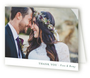 This is a green wedding thank you card by Mere Paper called On the Slopes with standard printing on strathmore in standard.