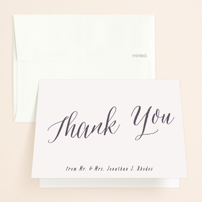 """Garden Lights"" - Rustic Thank You Cards in Plum by Hooray Creative."