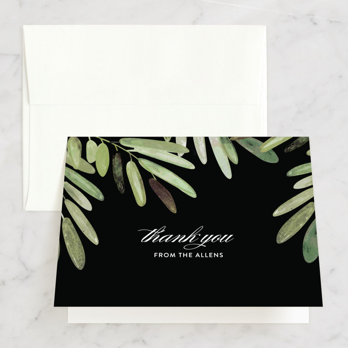 """Parting Branches"" - Thank You Cards in Midnight by Haley Warner."