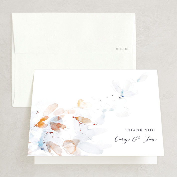"""""""Petale"""" - Folded Thank You Card in Blush by Kelly Ventura."""