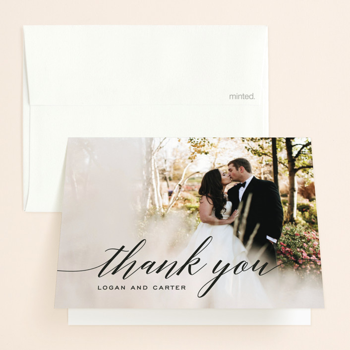 """Someone Like You"" - Folded Thank You Card in Tuxedo by Design Lotus."